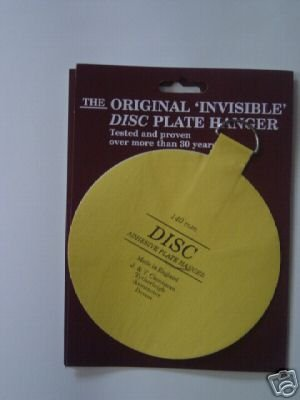 Pack of 5 Self Adhesive Plate Hanger 140mm Size / Stick On Plate Hanging Disc