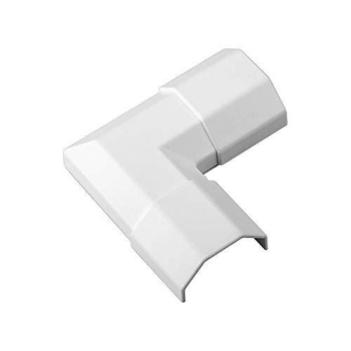 Goobay 90782 Weiße Kabelkanal Eckverbindung aus Kunststoff zur Erweiterung von Goobay Kabelkanälen