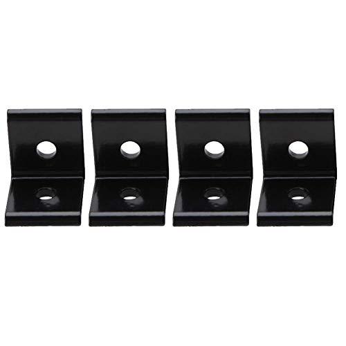 Soporte L, 1515 2020 3030 4040 Conector 4545 Conector de soporte para perfil de aluminio (Negro 2020A)