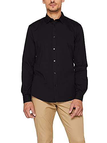 ESPRIT Herren 998Ee2F800 Freizeithemd, Schwarz (Black 2 002), X-Large (Herstellergröße: XL)