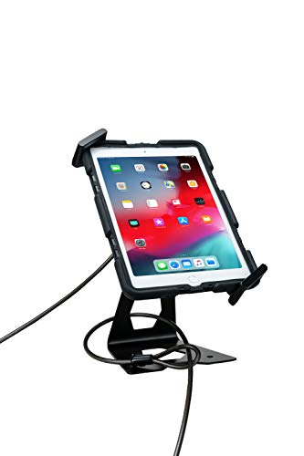 CTA Digital: Universal Case-Compatible Security Kiosk Stand for 7-13-Inch Tablets, Black