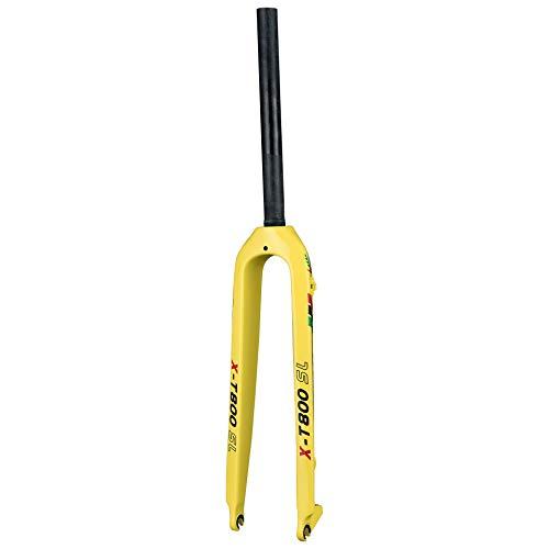 Lidauto fietsvork voor full carbon fiber mountainbike vork ultralicht 28,6 mm geel