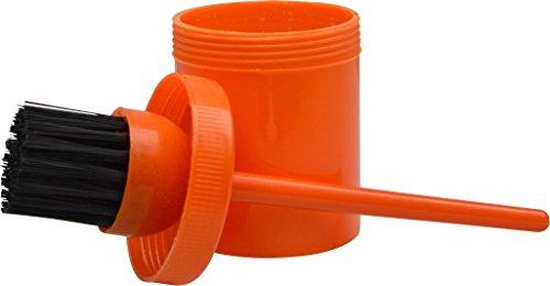 Behälter mit Pinsel, für Hufpflege, Orange
