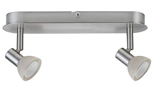 665.24 Paulmann Spotlights Mini Sheela Balken 2x35W GU4 Nickel gebürstet 12V 80VA Metall/Glas