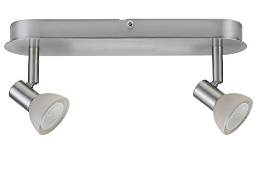 Paulmann 66524 Spotlights Mini Sheela Balken 2x35W GU4 Nickel gebürstet 12V 80VA Metall/Glas