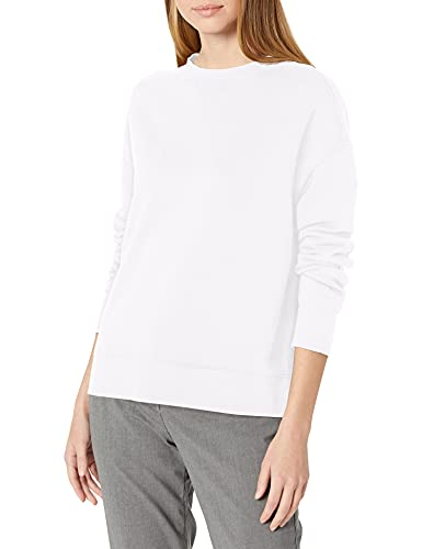 Vince Women's Essential Relaxed Pullover, Optic White, X-Large
