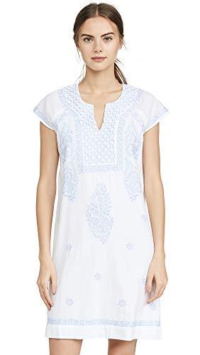 Roller Rabbit Women's Faith Dress, White/Cloud, Medium