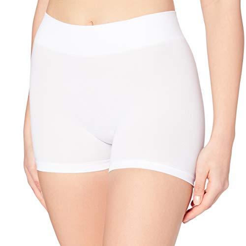 PIECES Pclondon Mini Shorts Noos, Culotte para Mujer, Blanco (Bright White Bright White), 36 (T...