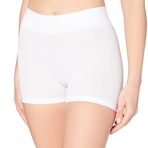 PIECES Damen PCLONDON Mini Shorts NOOS Panties, Weiß (Bright White), 36 (Herstellergröße: S/M)