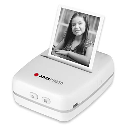 AgfaPhoto Realipix Pocket P Schwarz-Weiß Thermodrucker für Kinder mit spaßiger App zum Malen & Kritzeln, normal, ARKMPW