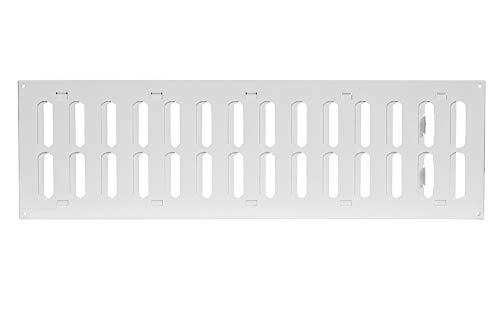 Schiebegitter aus Metall 500x150 mm Lüftungsgitter Schiebegitter Metall Weiß Abluftgitter MR5015r