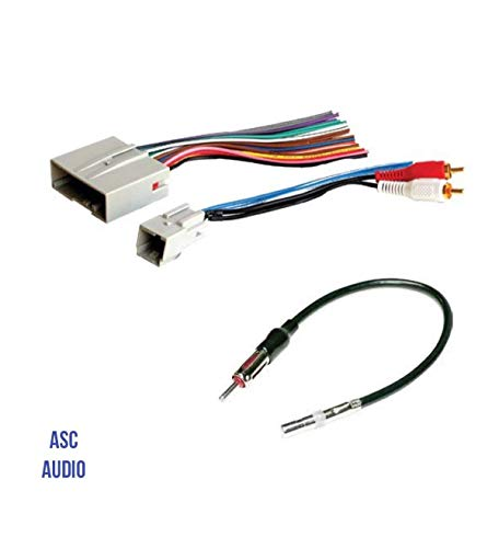 ASC Audio Car Stereo Wire Harness and Antenna Adapter to Install an Aftermarket...