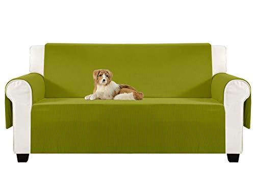 ALIECOM Anti-Slip Sofa Slipcovers Jacquard Fabric Pet Dog Couch Covers Protectors (Sofa: Oversized, Yellow Green)