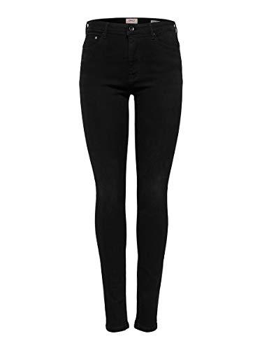 ONLY Damen Jeans ONLPAOLA HW SK DNM Jeans AZG 132907 - Skinny Fit - Schwarz - Black Denim, Größe:S - L 30, Farbauswahl:Black Denim (15167410)