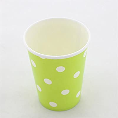 Swirly Twirly 100& Biodegradable Attractive Paper Cups- 12 Per Pack