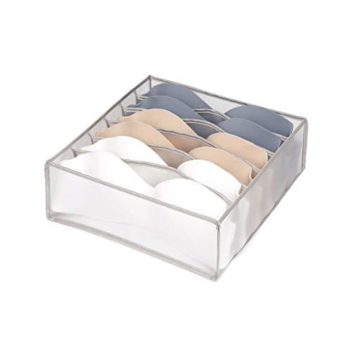 Caja de almacenamiento de ropa interior, malla de nailon calcetines de dormitorio organizar bolsa de almacenamiento divisores de cajones organizador de ropa cajones C-1