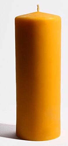 Bienenbude XXL große, riesen, Dicke, Lange 100% Bienenwachskerze 24 x 8 cm Bienenwachs Kerze Stumpen, Reine Handarbeit, aus Deutschland, Bayern
