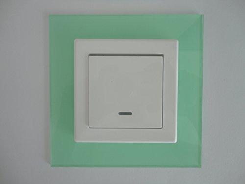Schalterblenden, Dekorrahmen, Optik- lackiertes Glas, passend für alle vorh. Schalter (1er Blende, mint)
