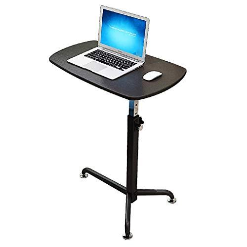 Computer-Schreibtisch-beweglicher Laptop-Schreibtisch, Computer Hubtisch Faule Schreibtisch Beistelltisch Wagen, Einstellbarer Roll Workstation, Home Office Notebook Rednerpult Podium, A (Farbe: C) WK