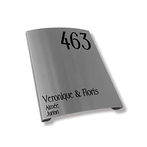 RVS Naambord | Arco-Line 15x20CM | Naambordje Voordeur | Topkwaliteit | Naambordjes RVS | Naambordje laten maken!