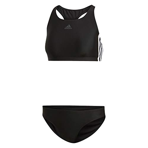 adidas Damen Fitness 3-Streifen Bikini-Set, Black, 46