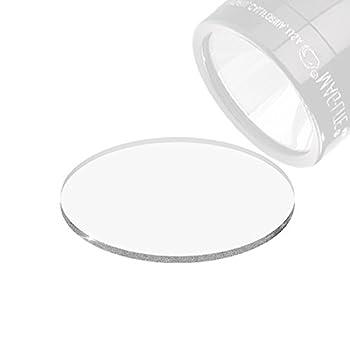 Weltool GL2 Lentille pour C/D Batterie Maglite Lampes de Poche ? Lentille en Verre Trempé Transparent, avec O-Ring et Protège Boîte