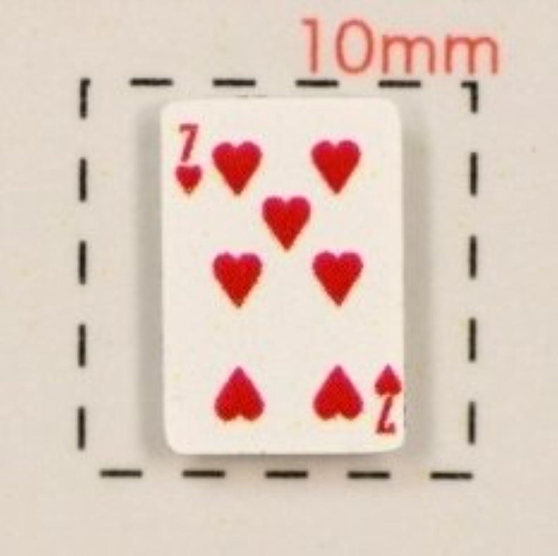 分岐するアート木材【トランプネイルシール】カード(2)ハート7/1シート12枚入
