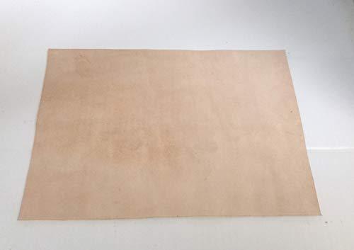 Gerberei Schachenmayr 24x34 cm großer Lederzuschnitt, Spaltleder, Dickleder, Velourleder, Wildleder, pflanzlich/vegetabil gegerbte Rindleder, mit ca. 1,5-2 mm Stärke