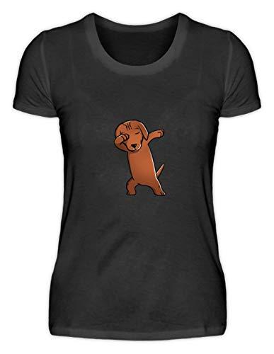 Generieke Dabbing Dabbin Dackel jachthond hond ras lief eraf - eenvoudig en grappig design - damesshirt