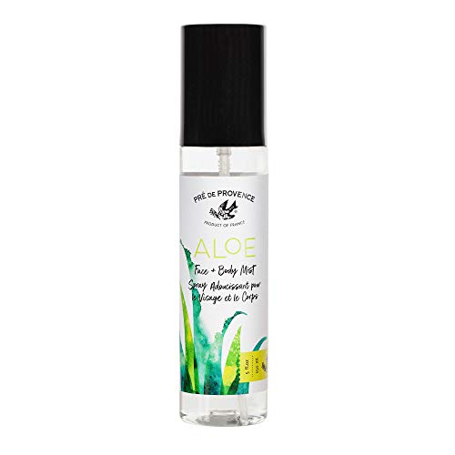 Organic Aloe Collection Hydrating Face and Body Spray (5oz), Fresh Cucumber Scent