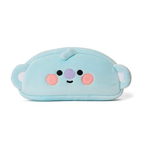 BT21 Official Merchandise by Line Friends - Baby Series KOYA Character Soft Plush Pencil Pen Case Bag Pouch with Zipper, Blue