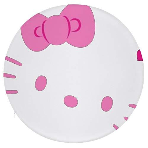 Cojín Cojín de Asiento de Espuma viscoelástica Redondo Hello Kitty Cojín súper Acogedor Cojín Suave para Interior