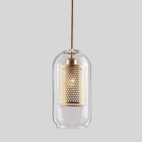 CHENJUNAMZ Techo LED Metal Hueco Vaso Caliente de la lámpara del Oro Amarillo de la luz de la lámpara de Hardware salón Comedor (Color : A)