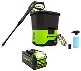 Greenworks PWF301 40V Cordless Pressure Washer 4Ah USB Battery Included