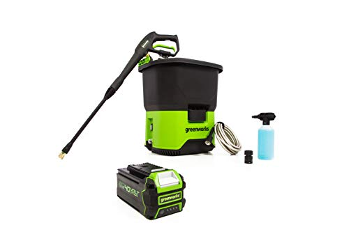Greenworks 40V Cordless Pressure Washer 4Ah USB Battery Included PWF301