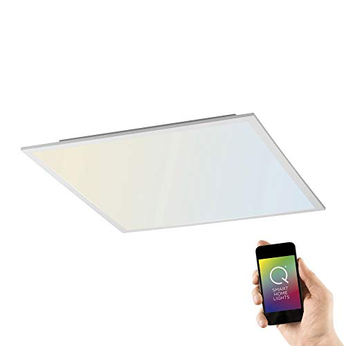Paul Neuhaus Q-Flag, LED Panel, 62x62, Smart-Home | dimmbare Decken-Lampe mit steuerbarer Farbtemperatur, warmweiss - kaltweiss | Decken-Leuchte Alexa & Google Home kompatibel
