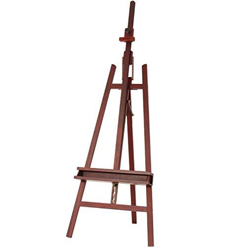 MEEDEN Walnut Large Painters Easel Adjustable Solid Beech Wood Artist...