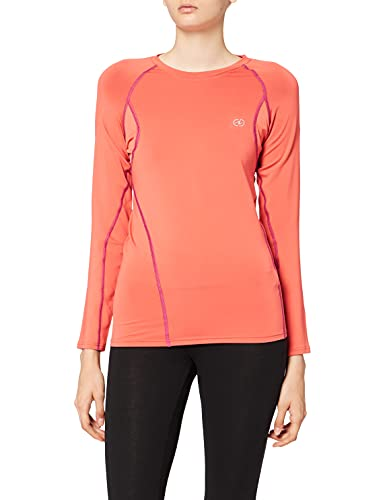 Damart Sport T-Shirt Easy Body 3 Thermolactyl Femme, Orange, Large
