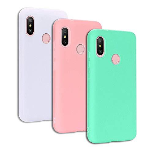 CoverTpu 3X Cover Xiaomi Redmi S2 Silicone TPU Morbido Ultra Sottile Flessibile Antiurto Protettiva Bumper Xiaomi Custodia Redmi S2 Gel Copertura Cassa Rosa Verde Bianco