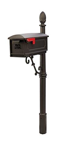 Gibraltar Mailboxes Olde Towne Medium Capacity Cast Aluminum Black,...