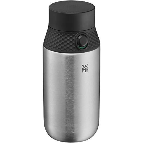 WMF Waterkant Trinkflasche Edelstahl 500ml, Sport Edelstahlflasche Kohlensäure geeignet, Sportverschluss, Einhandöffnung, auslaufsicher, BPA-frei