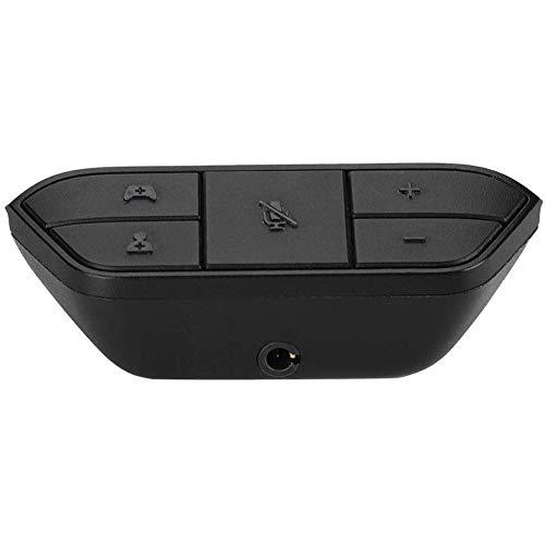 Boenxuan Headset Kopfhörer Adapter, Staubgeschützter Stereo Headset Adapter Kopfhörer Konverter Mit Game Control Stereo Sound Synchronisation,Schwarz