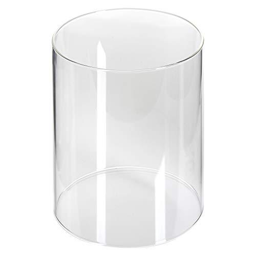 Ersatz-Glaszylinder für Bio-Ethanol Tischkamin, passend zu div. angebotenen Tischkaminen mit rundem / zylindrischem Sockel