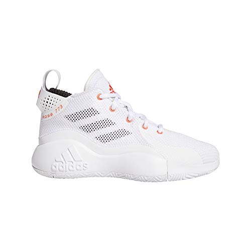 adidas Unisex-Erwachsene D Rose 773 2020 J Sneaker, Ftwbla/Rojsol/Negbás, 39 1/3 EU