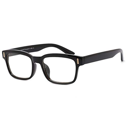 Cyxus Blue Light Blocking Computer Glasses for Anti Eye Strain UV Clear Lens Eyewear Women/Men (8084T01,Black)