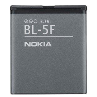 Nokia Akku 6210 Navigator/E65/N95/N96 interner Original-Akku, 950 mAh, Überhitzungsschutz, Schwarz
