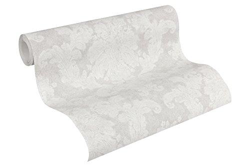 A.S. Création Vliestapete Elegance Tapete neo barock 10,05 m x 0,53 m grau weiß Made in Germany 305183 30518-3