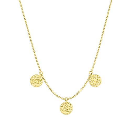 s.Oliver Jewel, 2027551, halsketting voor dames, zilver, goud, munten