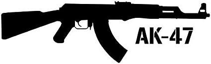 A/X Sticker de Carro 15X4,4 CM Kalashnikov AK-47 Pistola de Dibujos Animados Car-Styling Vinyl Decal Car Sticker S8-0072Negro