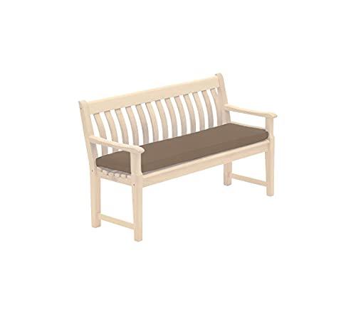 Northern Luxe 2-, 3- und 4-Sitzer-Gartenbank-Kissen, wasserabweisend, rechteckig, bequemes Sitzkissen, weich, rutschfest, wiederverwendbar (Braun-Choco, 3-Sitzer)